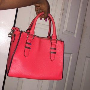Red/orange crossbody bag